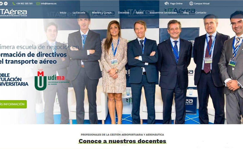 nuevaweb 1024x630 - Lanzamiento de La Nueva web de ITAérea Aeronautical Business School