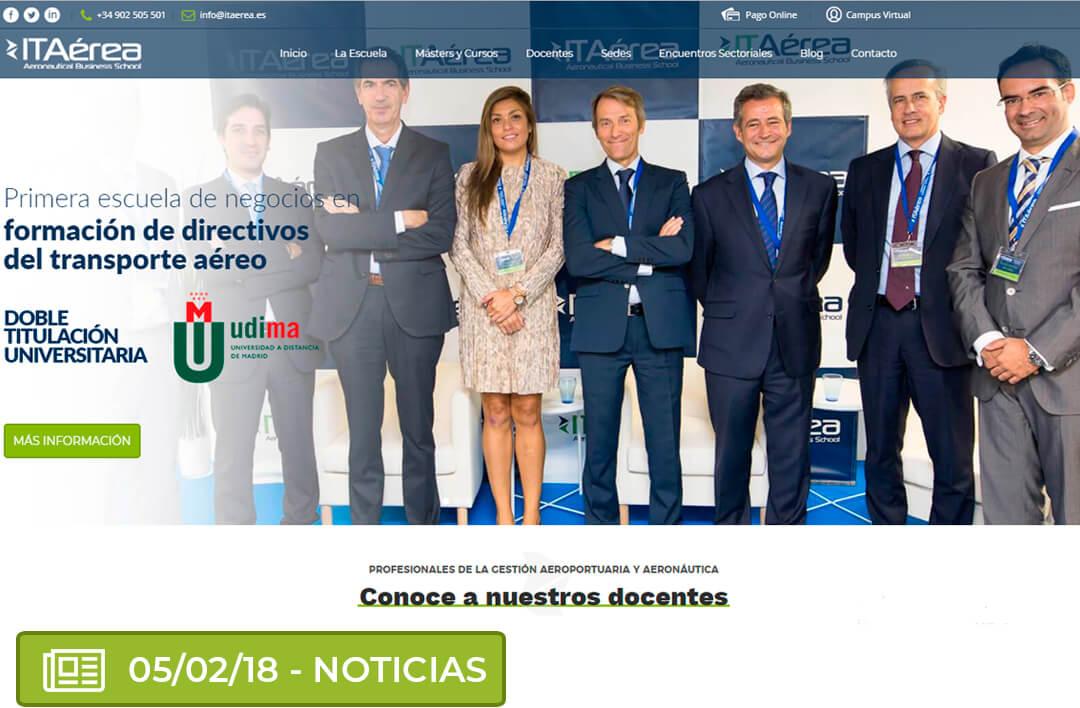 nuevaweb 1024x671 - Lanzamiento de la nueva web de ITAérea Aeronautical Business School