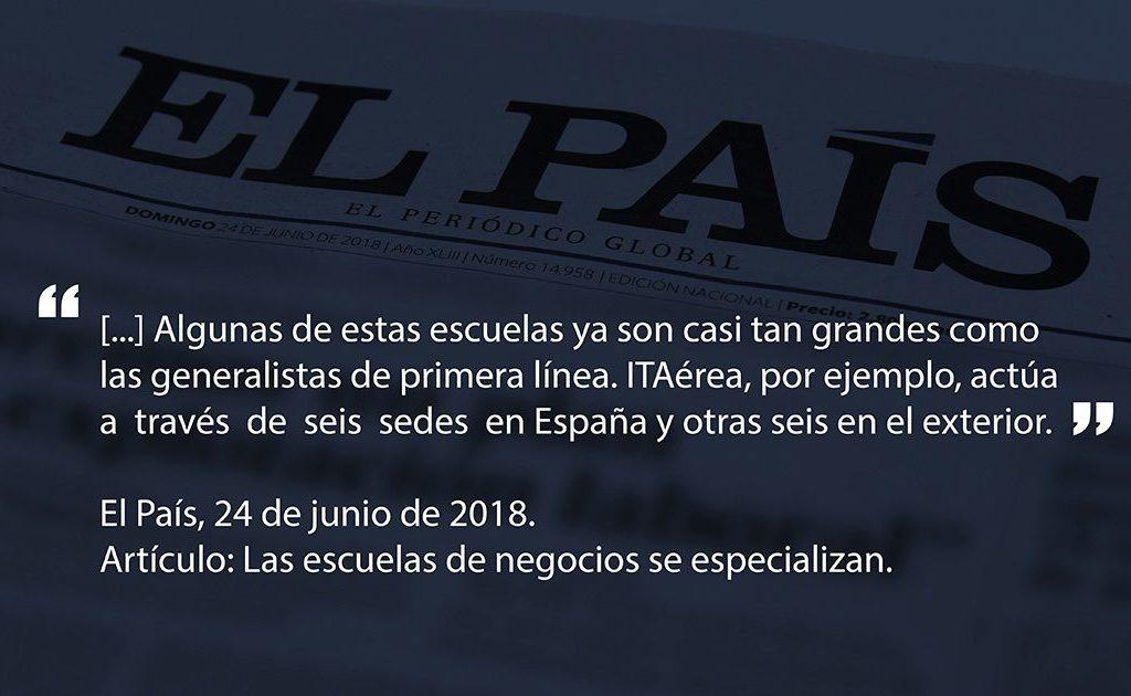 pais 1024x630 - Artículo del Diario el País Sobre ITAérea Aeronautical Business School