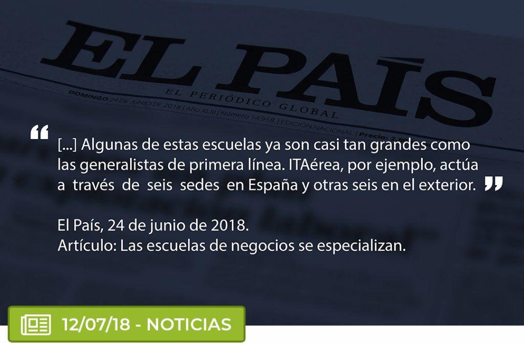 pais 1024x671 - Artículo del diario El País sobre ITAérea Aeronautical Business School