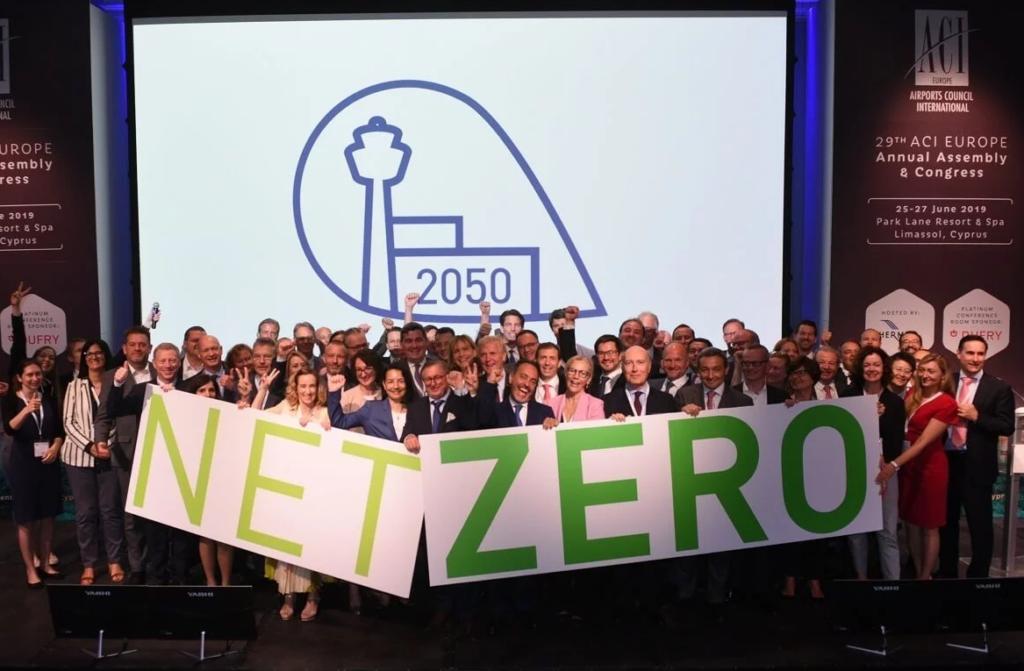 ACI Europe net zero carbon 2050 1024x671 - Aeropuertos europeos firman el objetivo de cero emisiones de carbono en 2050