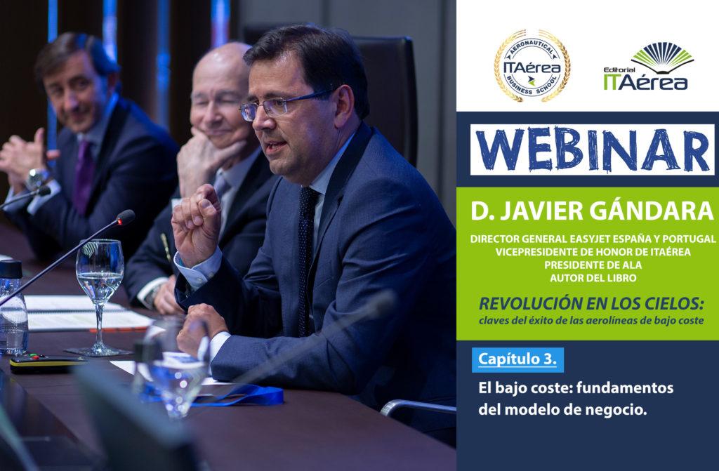 Noticia Webinar Gándara 15 abril 1 1024x671 - Masterclass online de D. Javier Gándara sobre los fundamentos del modelo de negocio de las aerolíneas de bajo coste
