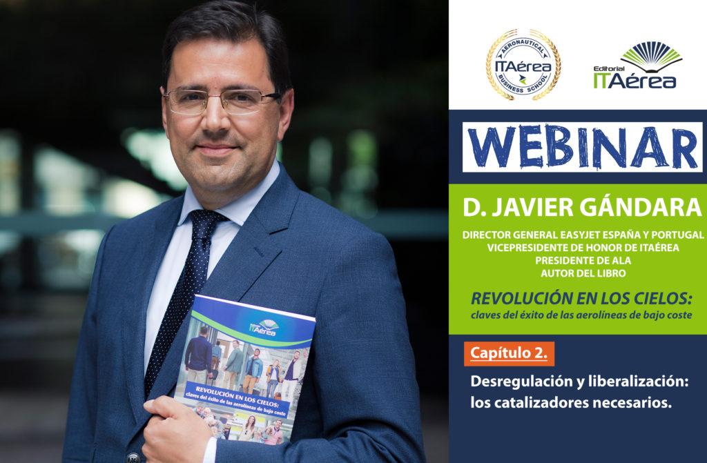 Noticia Webinar Gándara 2 1024x671 - Masterclass online de D. Javier Gándara sobre la desregulación y la liberalización de la industria del transporte aéreo.
