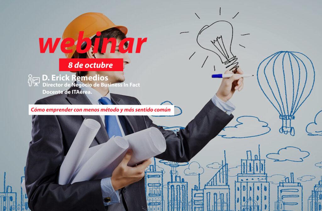 WEBINAR 8 octubre Erick Remedios 1024x671 - Formación e-learning: próximos webinars previstos