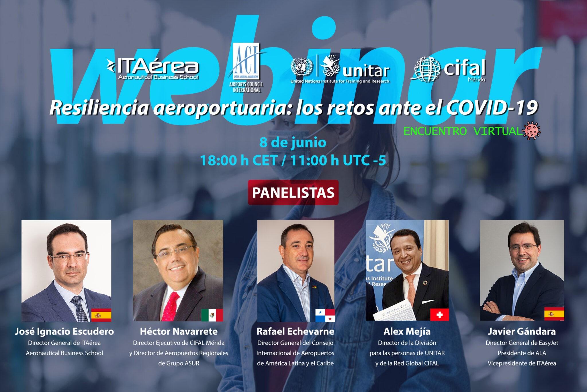 WEBINAR ACI LAC 8 junio 2 - V Encuentro Sectorial: Aeropuertos