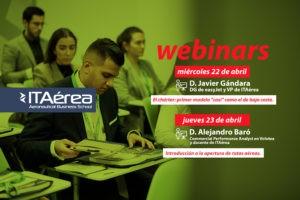 WEBINARS ABRIL 300x200 - Webinar con D. Javier Gándara en el Diplomado de Alta Dirección de Compañías Aéreas.